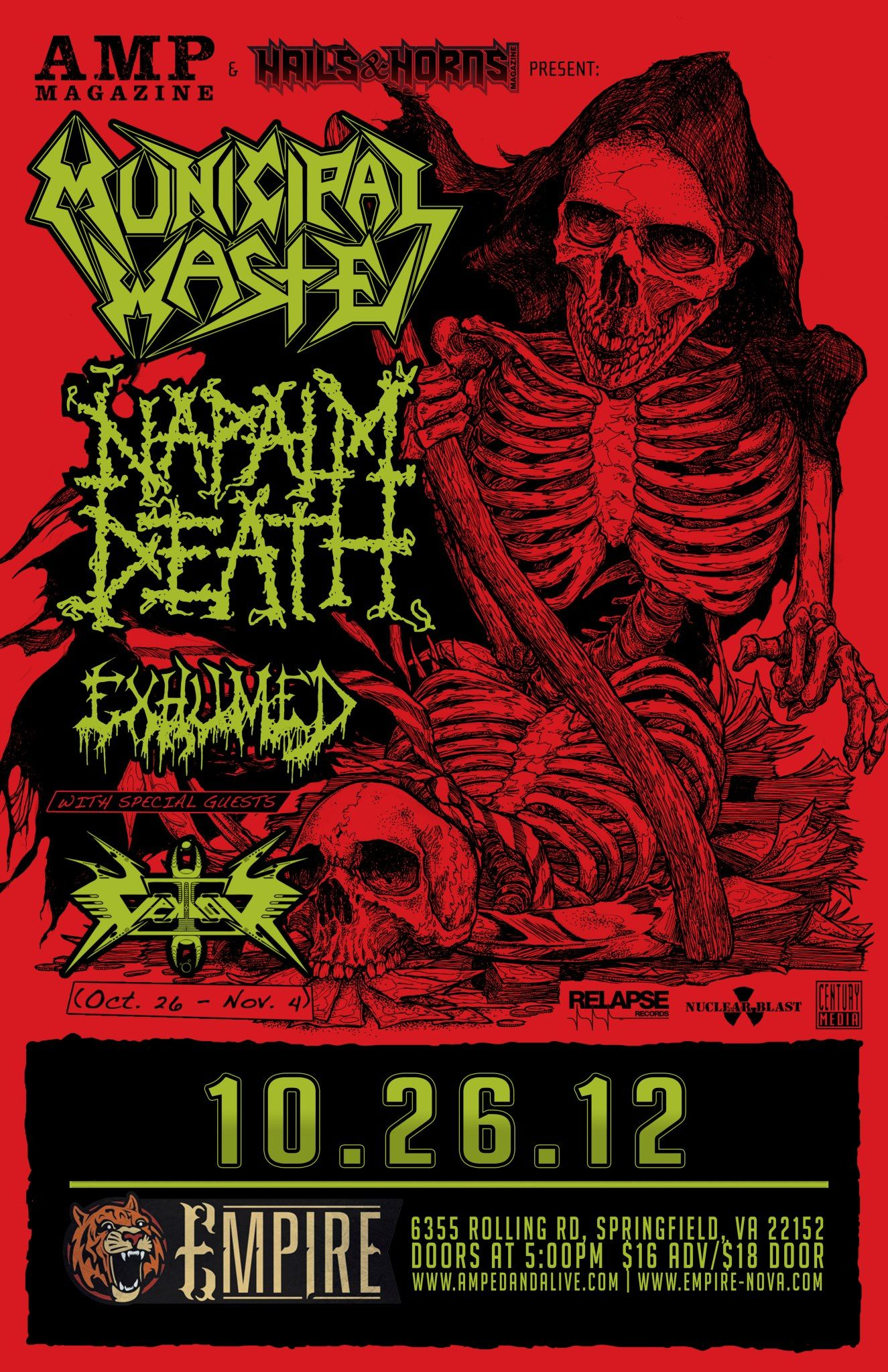 Pin By Rafael Gomez On Rock And Roll Tour Posters Napalm Death