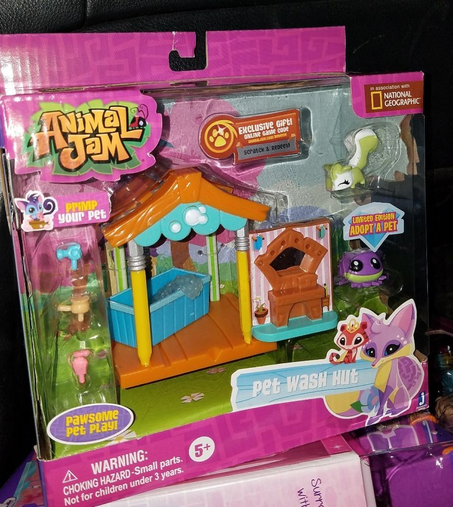 Details About Animal Jam Pet Wash Hut Collectible Playset