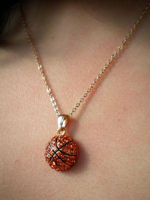 Lisas rhinestone basketball pendant necklace jewelry for sports lisas rhinestone basketball pendant necklace mozeypictures Images