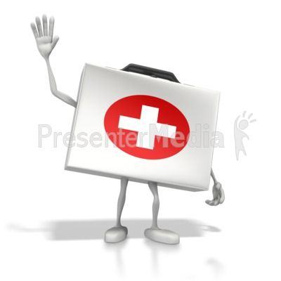 Happy Medical Kit PowerPoint Clip Art | Stick Figures PowerPoint ...