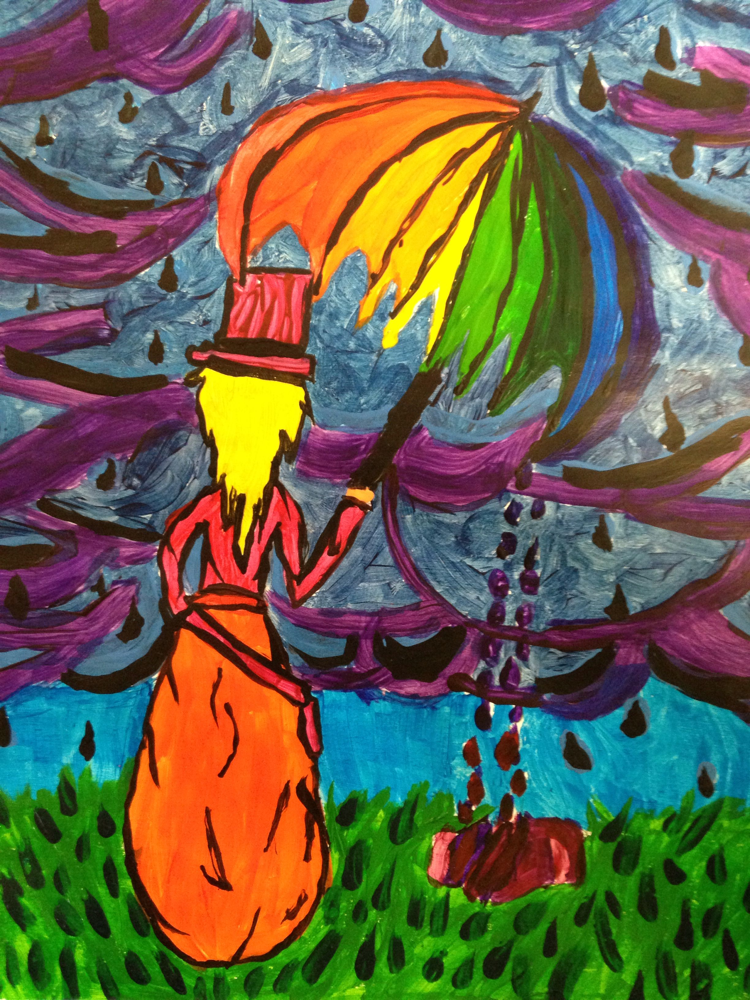 Color wheel project drawingpainting student work pinterest