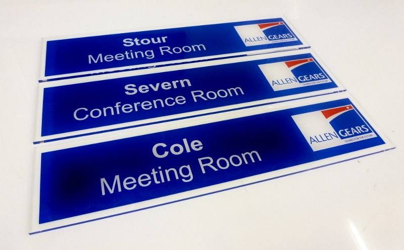 office door signs with logo and office meeting room name plate door