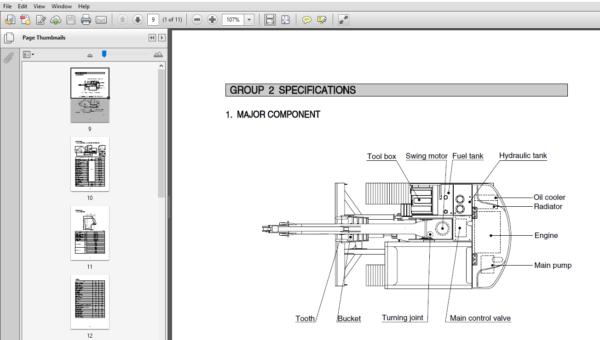 Hyundai R80 7a Crawler Excavator Service Repair Manual Pdf Download Repair Manuals Hyundai Hydraulic Systems
