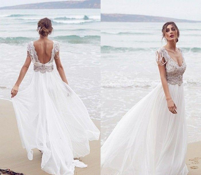 Moderne Brautkleider für Ihre Strandhochzeit nach den Trends 2017