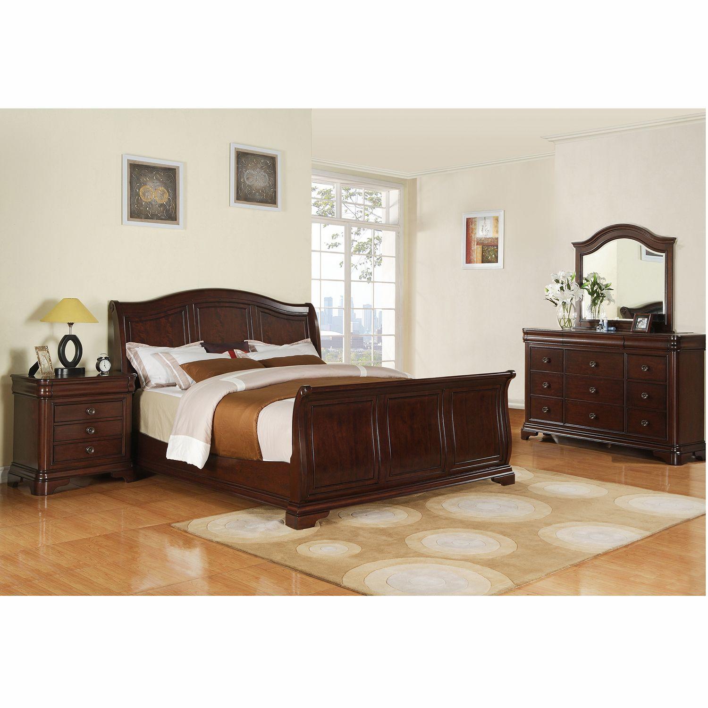 wood and metal bedroom furniture