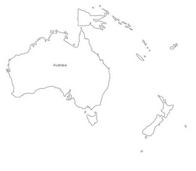 Resultado de imagen para mapas para colorear de OCEANIA | Mis Pines ...