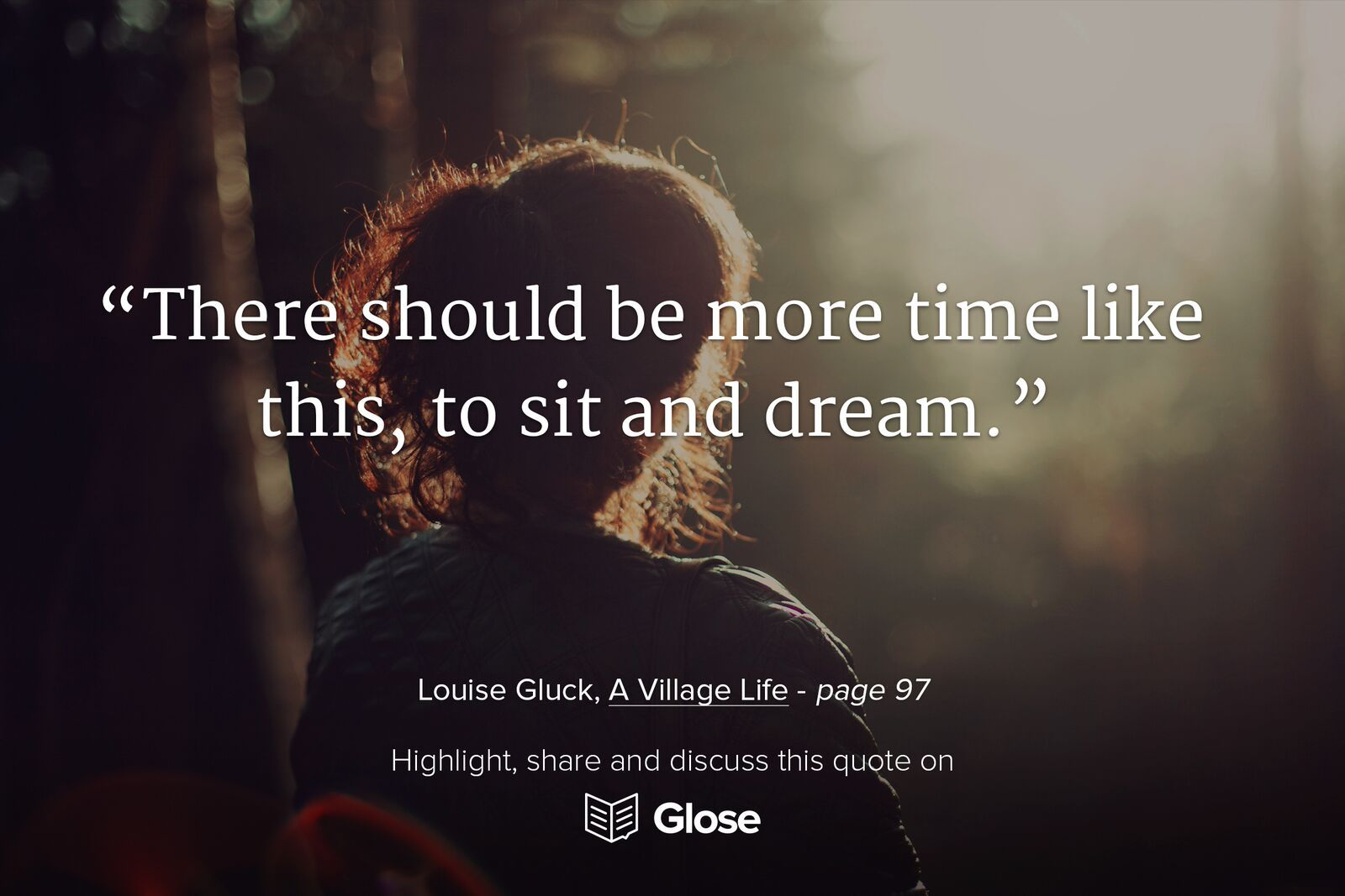 Louise Gluck, A Village Life  Highlight, share and discuss this