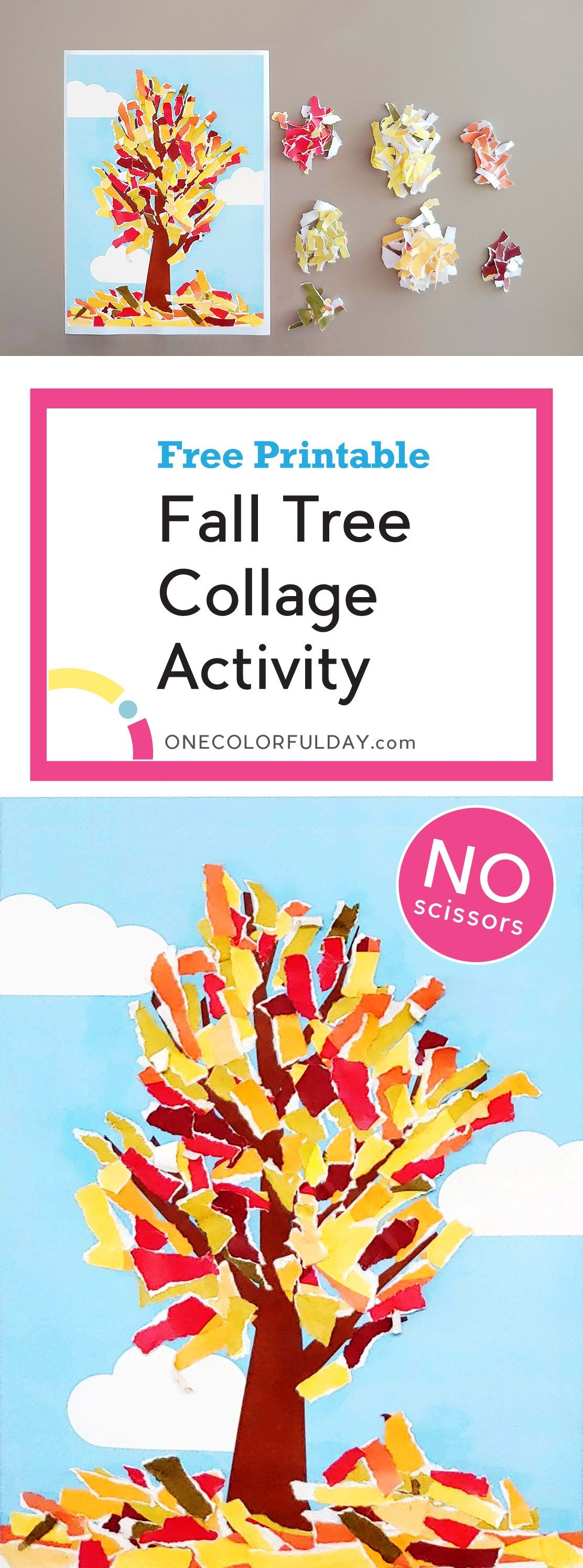 Free Printable Fall Tree Collage Activity