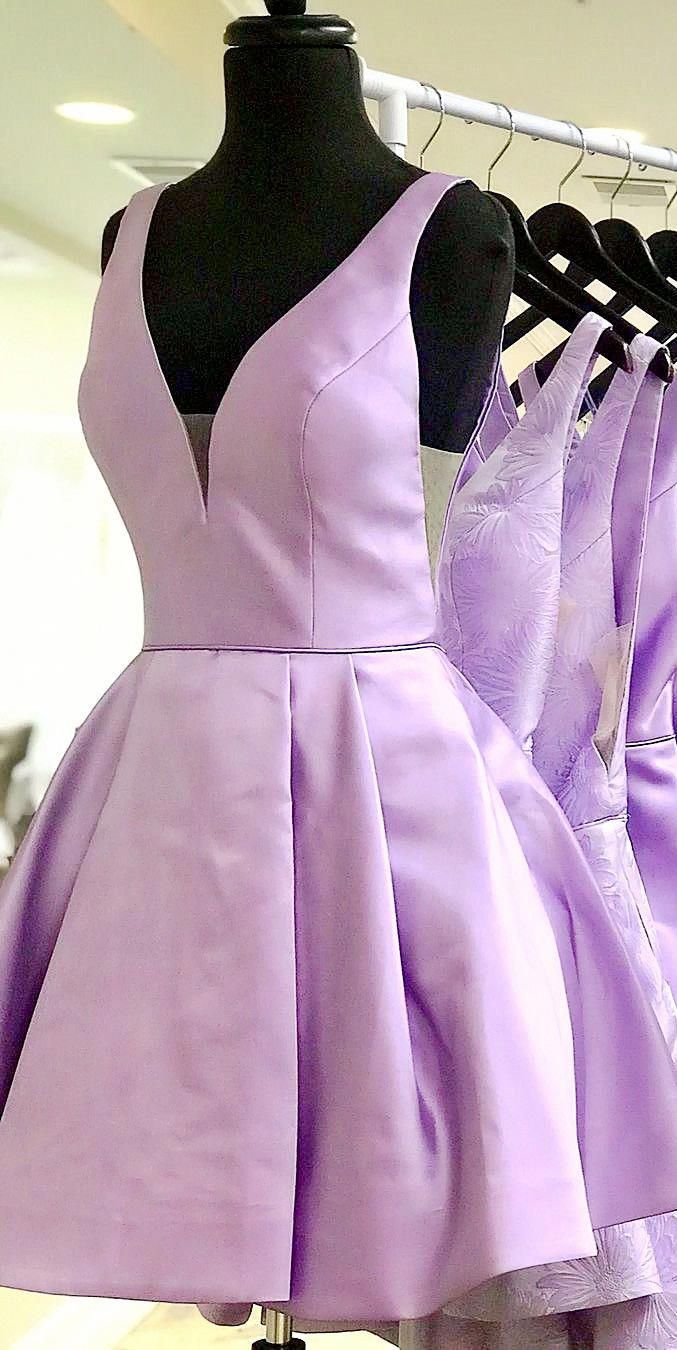 Short homecoming dresses lavender homecoming dresses
