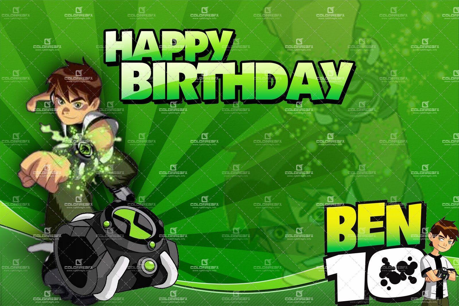 Birthday Card Psd Free Download July 2014 Ideas Ben 10 Birthday 10th Birthday Invitation Birthday Invitations