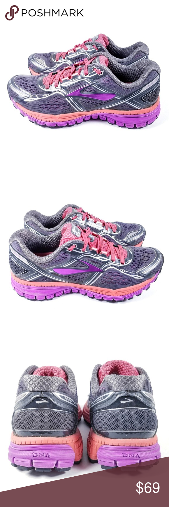 b1e0a783f36 Brooks Ghost 8 Running Shoes Size 6.5 Purple Brooks Ghost 8 Running Shoes  Womens Size US