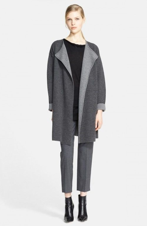 Nordstrom Signature Two Tone Cashmere Sweater Coat | Clothing