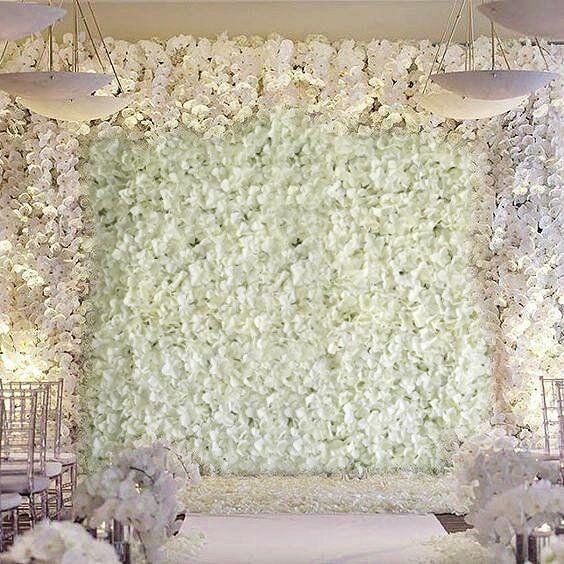 Silk Hydrangea Flowers Wedding Party Wall Backdrop Panel