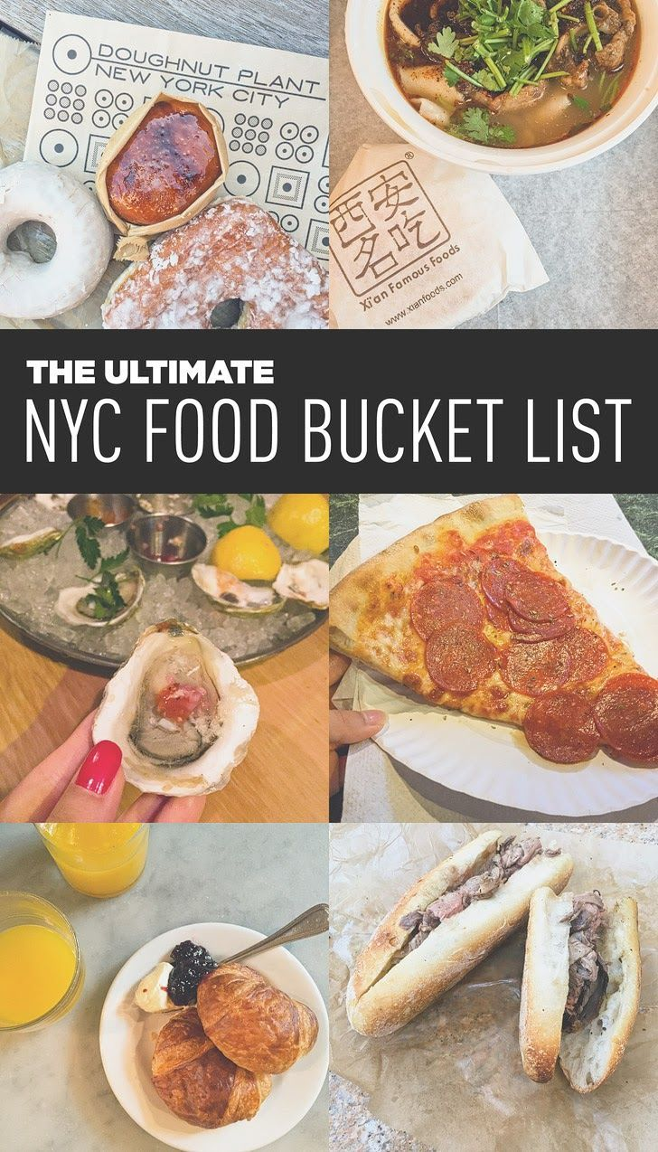 Ultimate NYC Food Bucket List