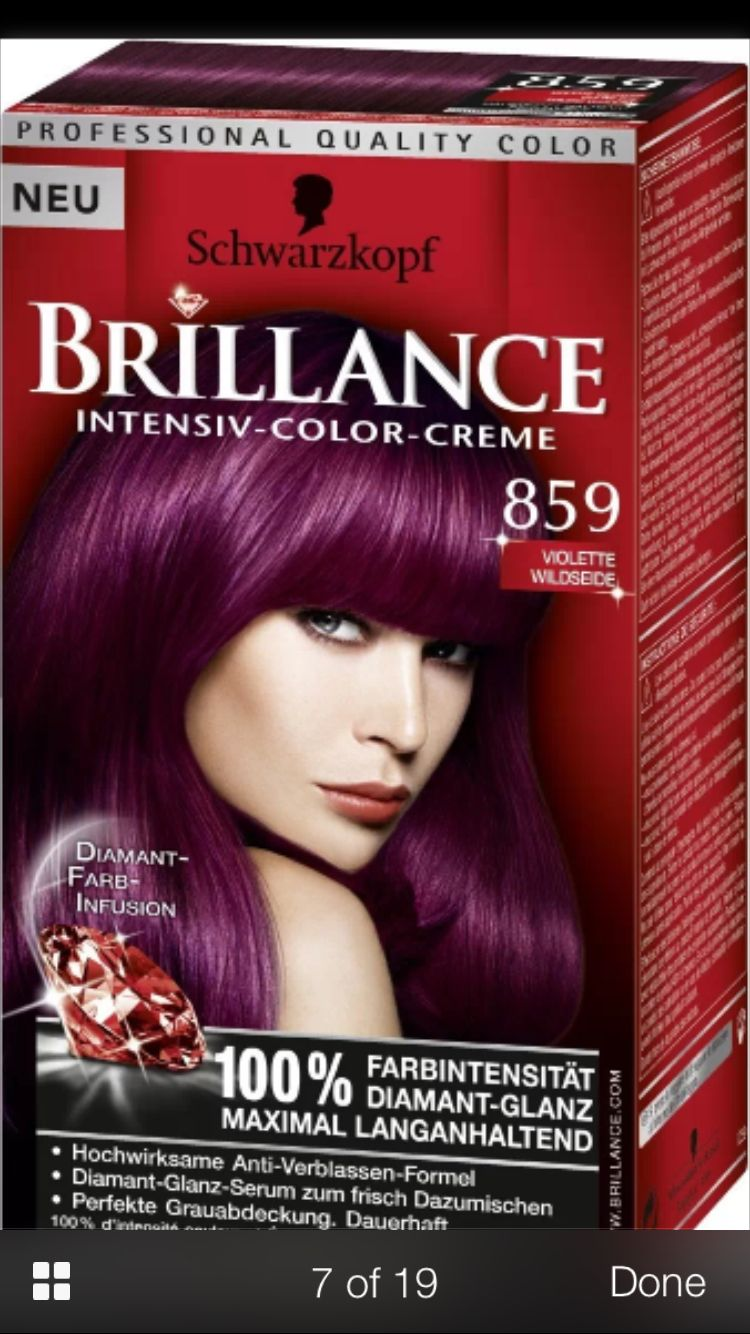 Violet Boxed Hair Color Hair Color Bright Hair Colors