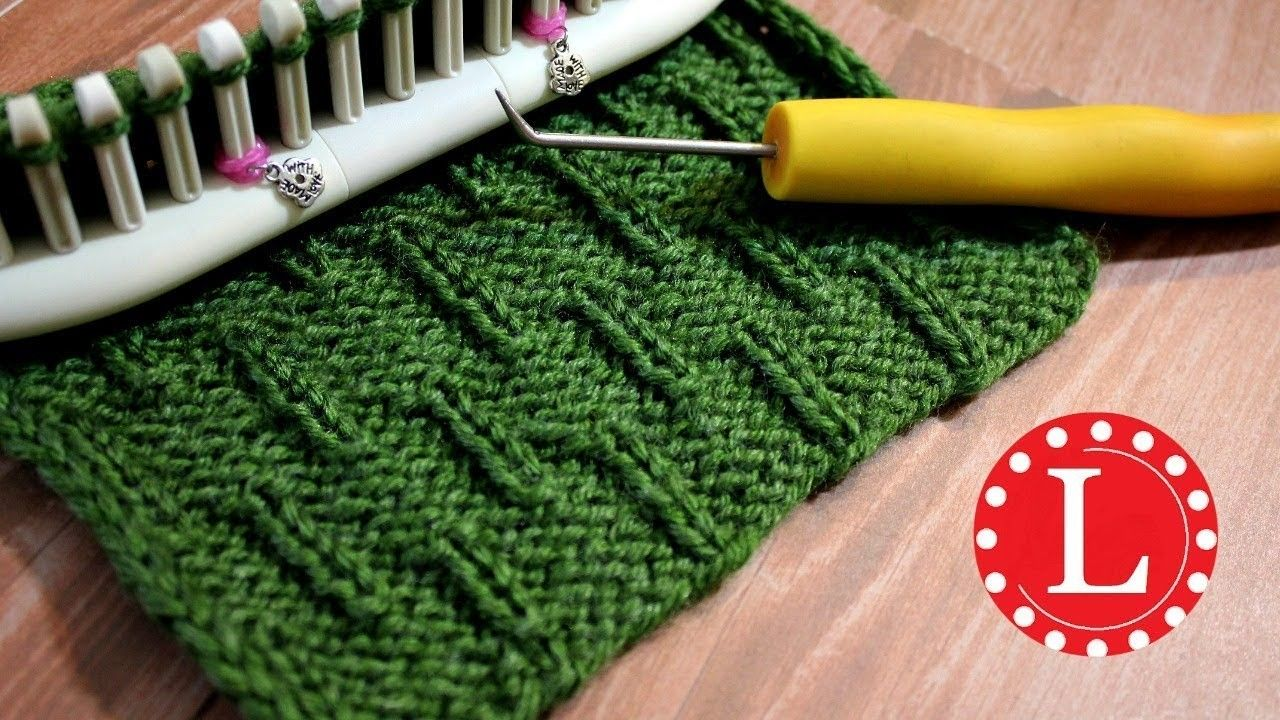 LOOM KNITTING Stitch Patterns – The Caterpillar on Any Loom Round or Long | Loomahat Knit Stitches
