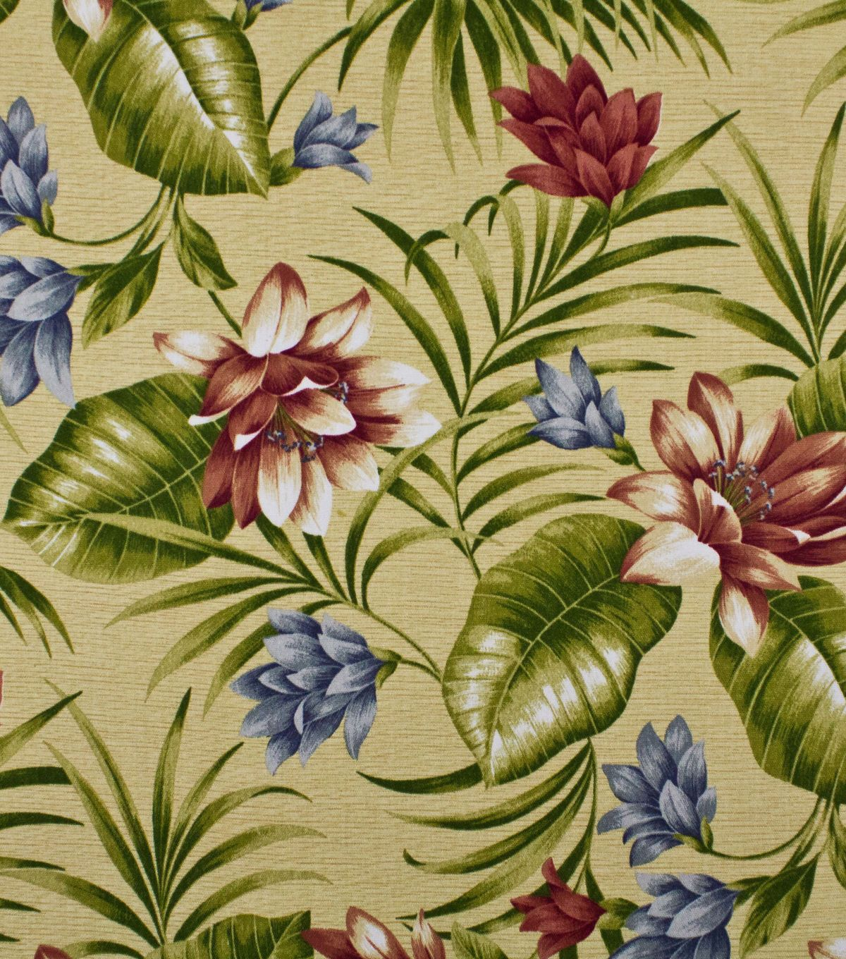 Solarium Red Floral Siestakey Pompeii Outdoor Fabric By the yard