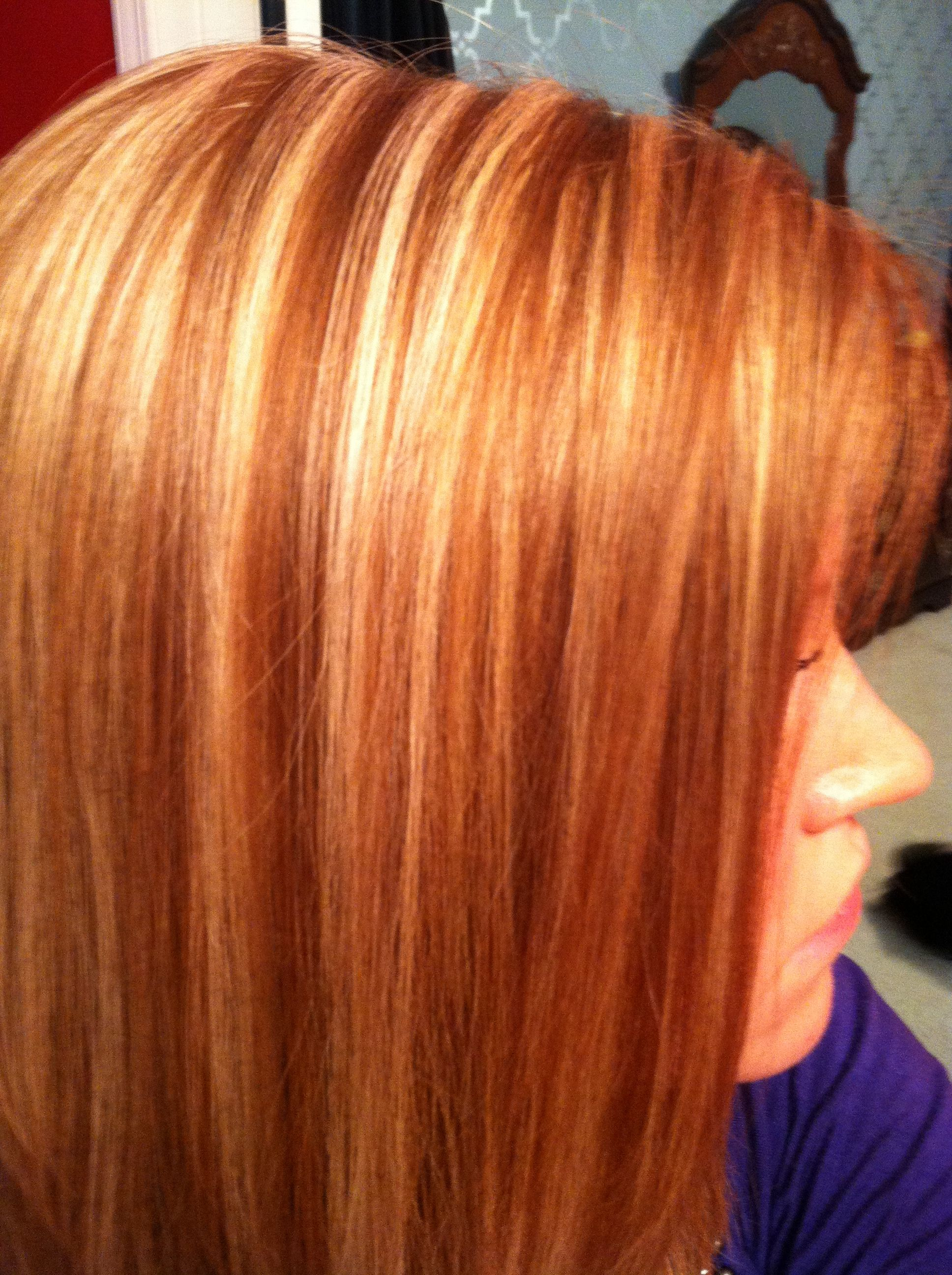 Red Hair With Blonde Highlights Hair Pinterest