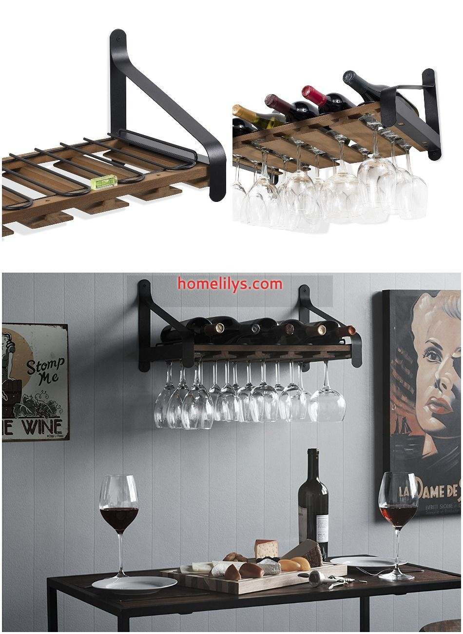 6 best wall mounted wine rack you can install instantly