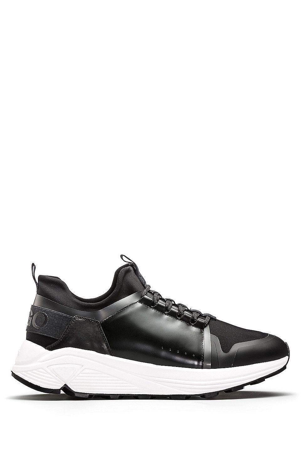 HUGO BOSS Mixed-material trainers with