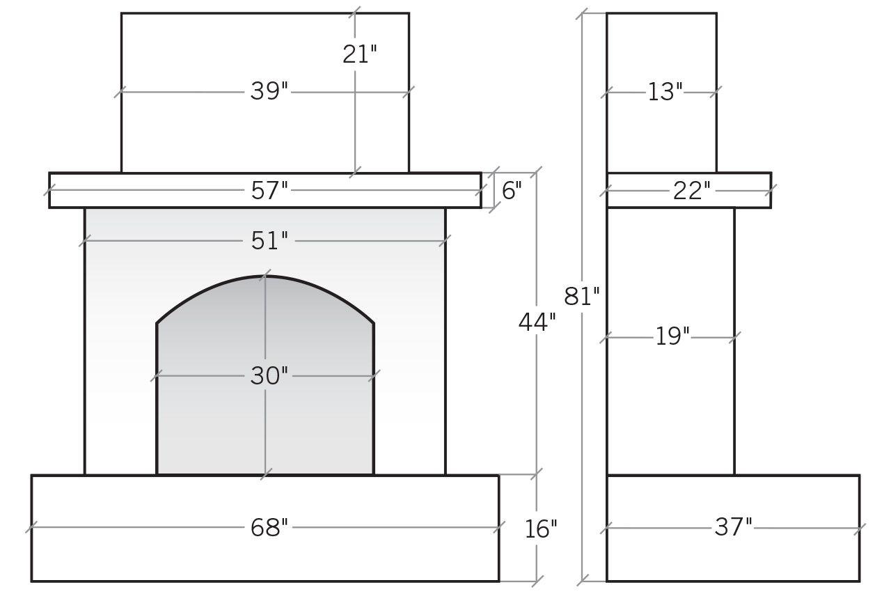 Eldorado Fireplaces Fireplace Dimensions Outdoor Fireplace Fireplace