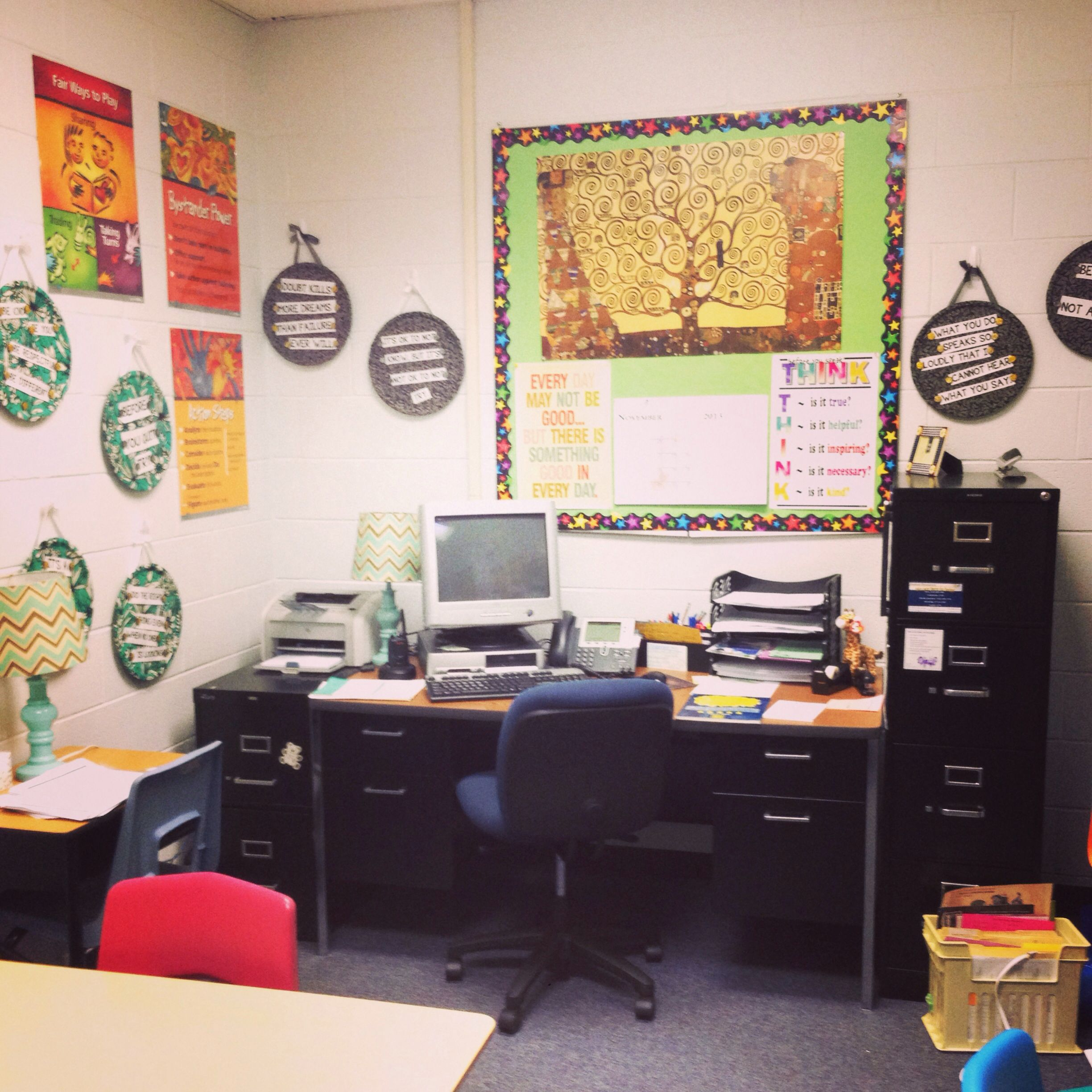 Decoration ideas for school social work offices. | School ...
