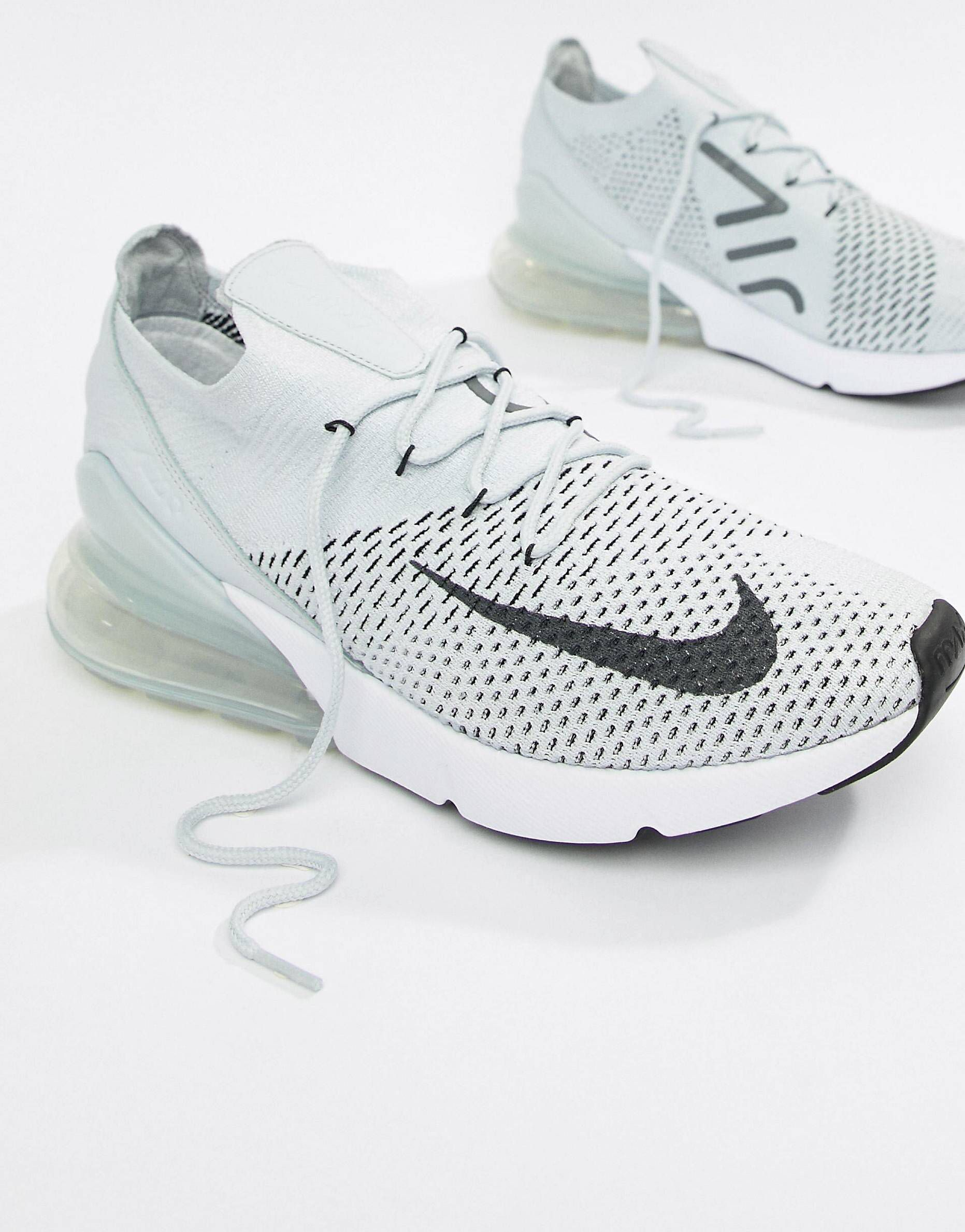 Nike Air Max 270 Flyknit Trainers In Grey AO1023 003 in 2019