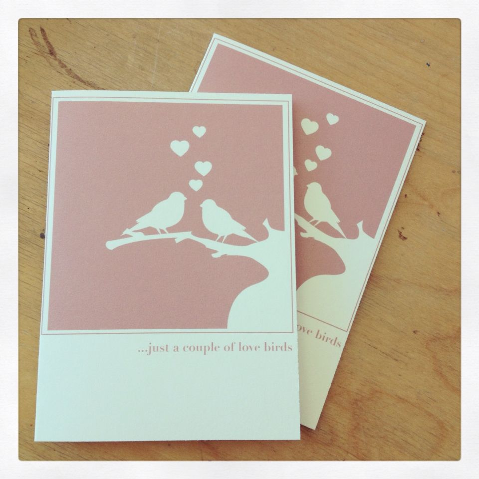 Just a couple of lovebirds note card from giant gnome paper co