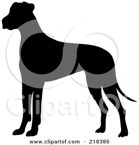 Royalty Free Rf Clipart Illustration Of A Black Silhouetted