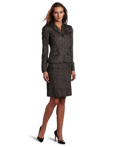 buy sale attractive colour website for discount Anne Klein Women's Inverted Pleat Skirt Suit $210.00 ...