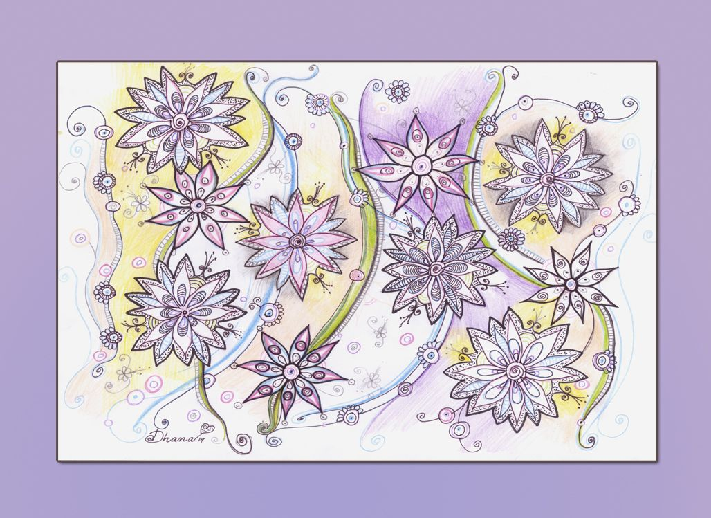 OOAK Lilac Lavender Colorful Flowers drawing, Original illustration, Contemporary modern art , Wall decoration https://www.etsy.com/listing/195252126/ooak-lilac-lavender-colorful-flowers?ref=shop_home_active_15