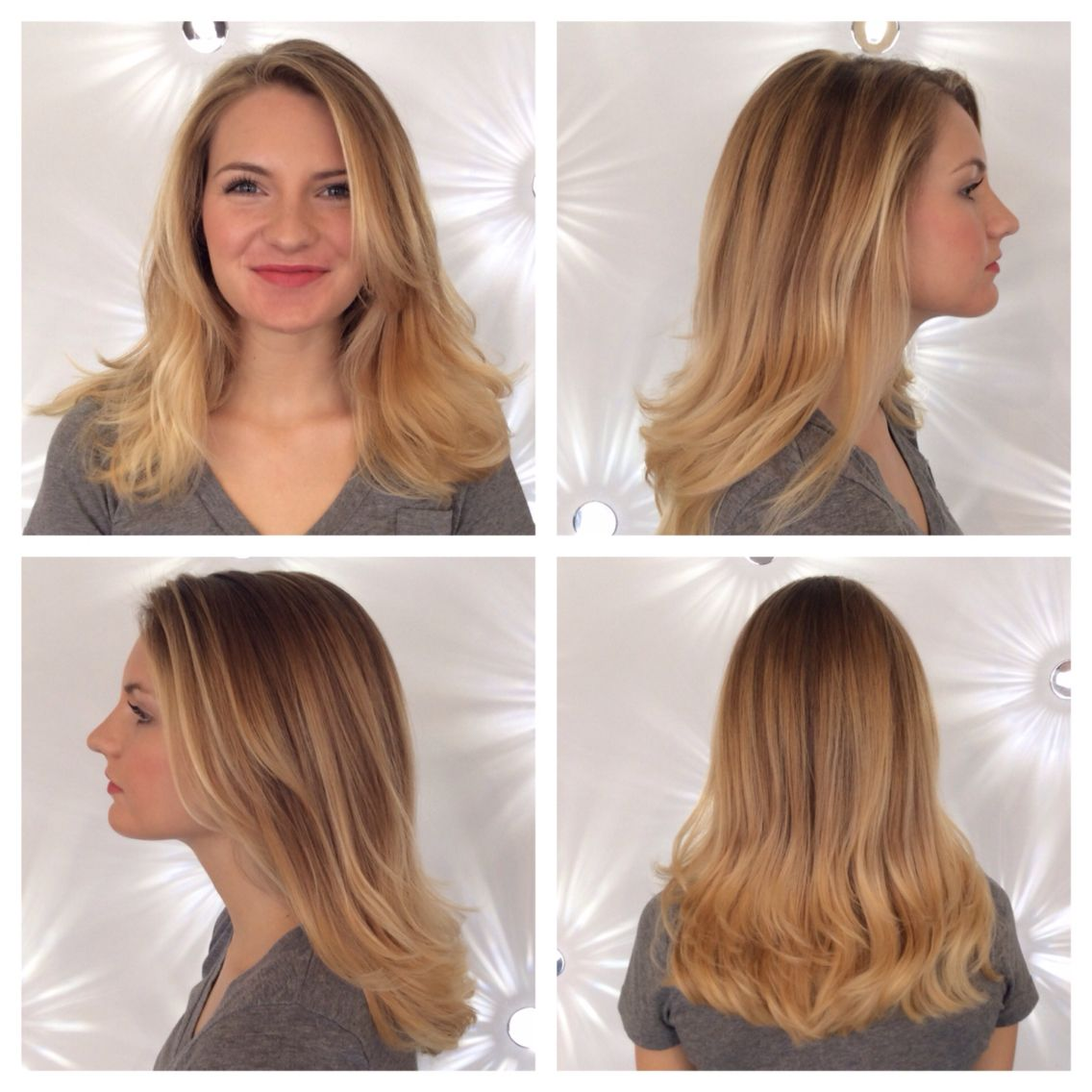 Beautiful blonde balayage! Aveda color is the best. Come