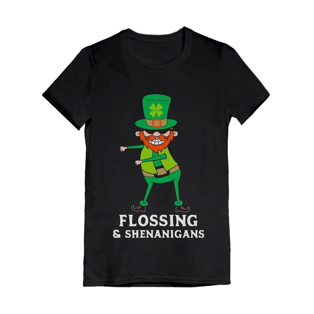St Patrick Flossing /& Shenanigans Leprechaun Funny Hoodie Tstars