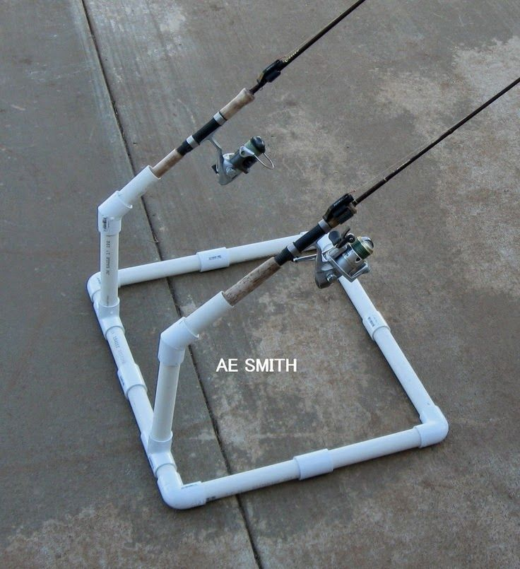 Craft ideas homemade fishing rod holder our pond for Homemade fishing rod storage ideas