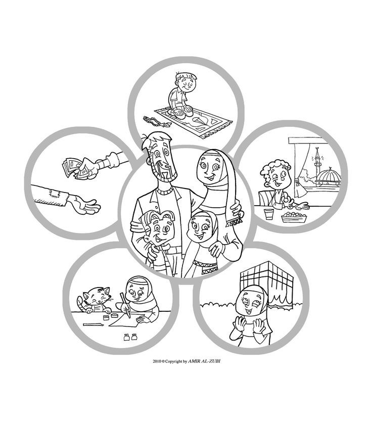 New Muslim Kids: Coloring Page: Islam Is Happiness | Islam: For ...