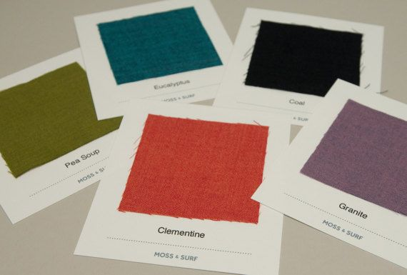 Custom Color Napkins Color Swatches Fabric Samples
