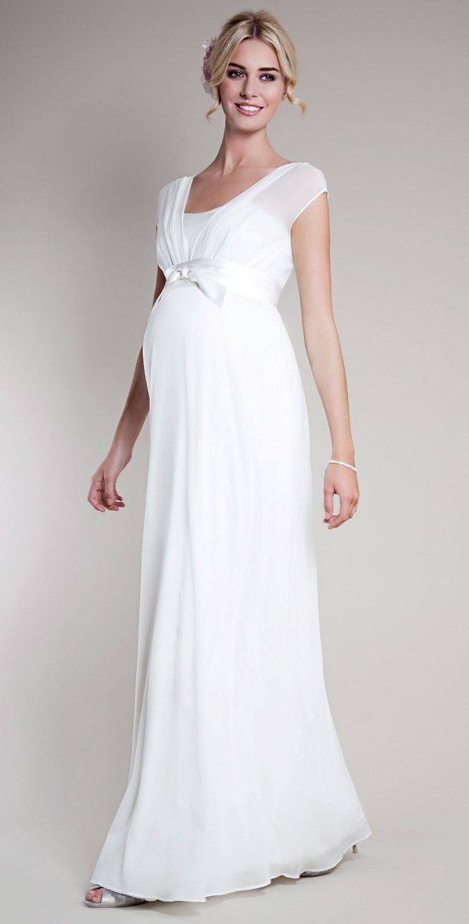 Maternity Wedding Dress With Sleeves | Maternity Clothes | Pinterest ...