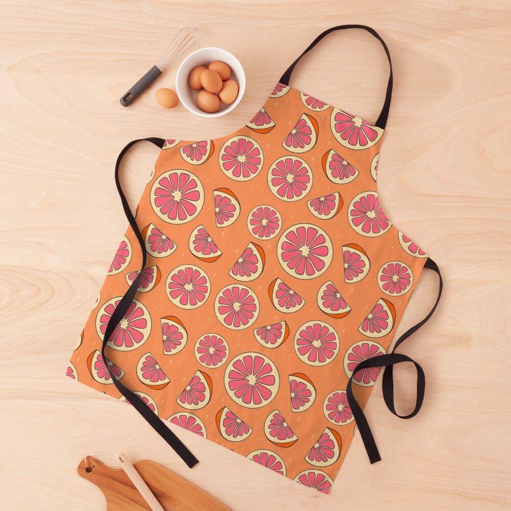 Grapefruit Print Apron Print Printed Aprons Print Design