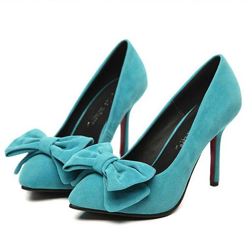 New style Pointed Closed Toe Super High Stiletto Blue Suede Pumps