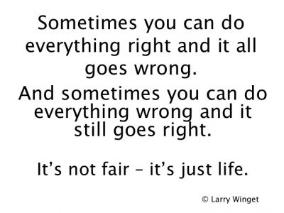 Larry Winget Quote Life Isnt Fair Larry Winget Quotes Quotes