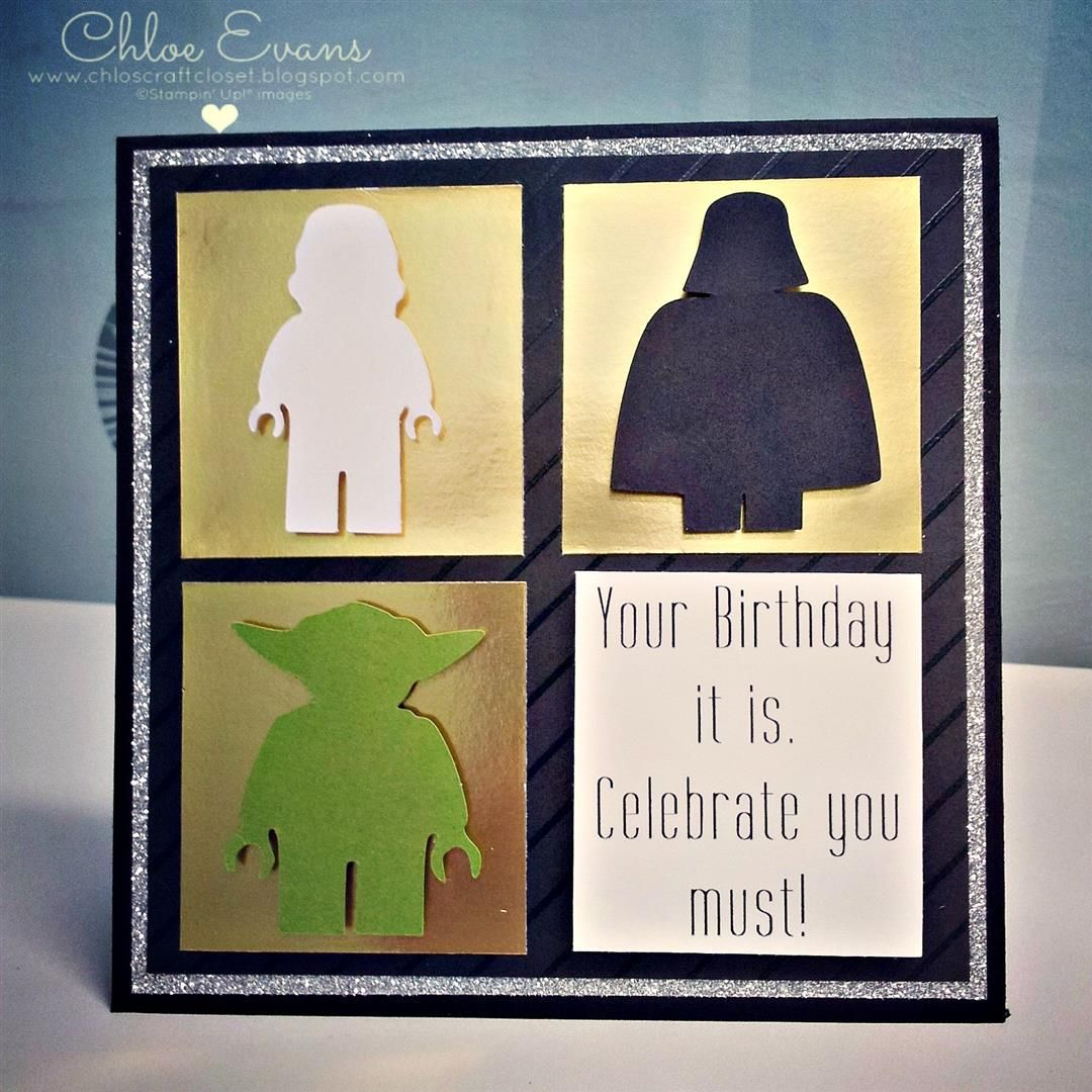 Chlos Craft Closet Stampin Up Demonstrator Lego Star Wars – Lego Star Wars Birthday Cards