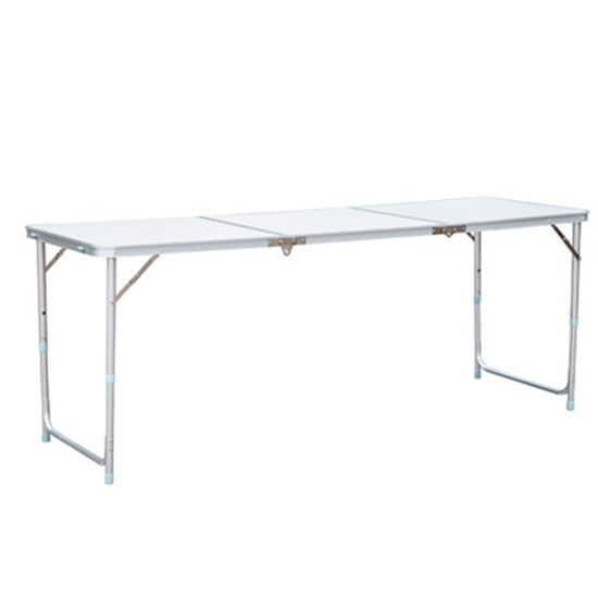 Large Picnic Camping Table 71 0 X 23 5 Folds Portable Carry Handle Outdoors Outsunny Camping Table Camping Picnic Table Folding Table