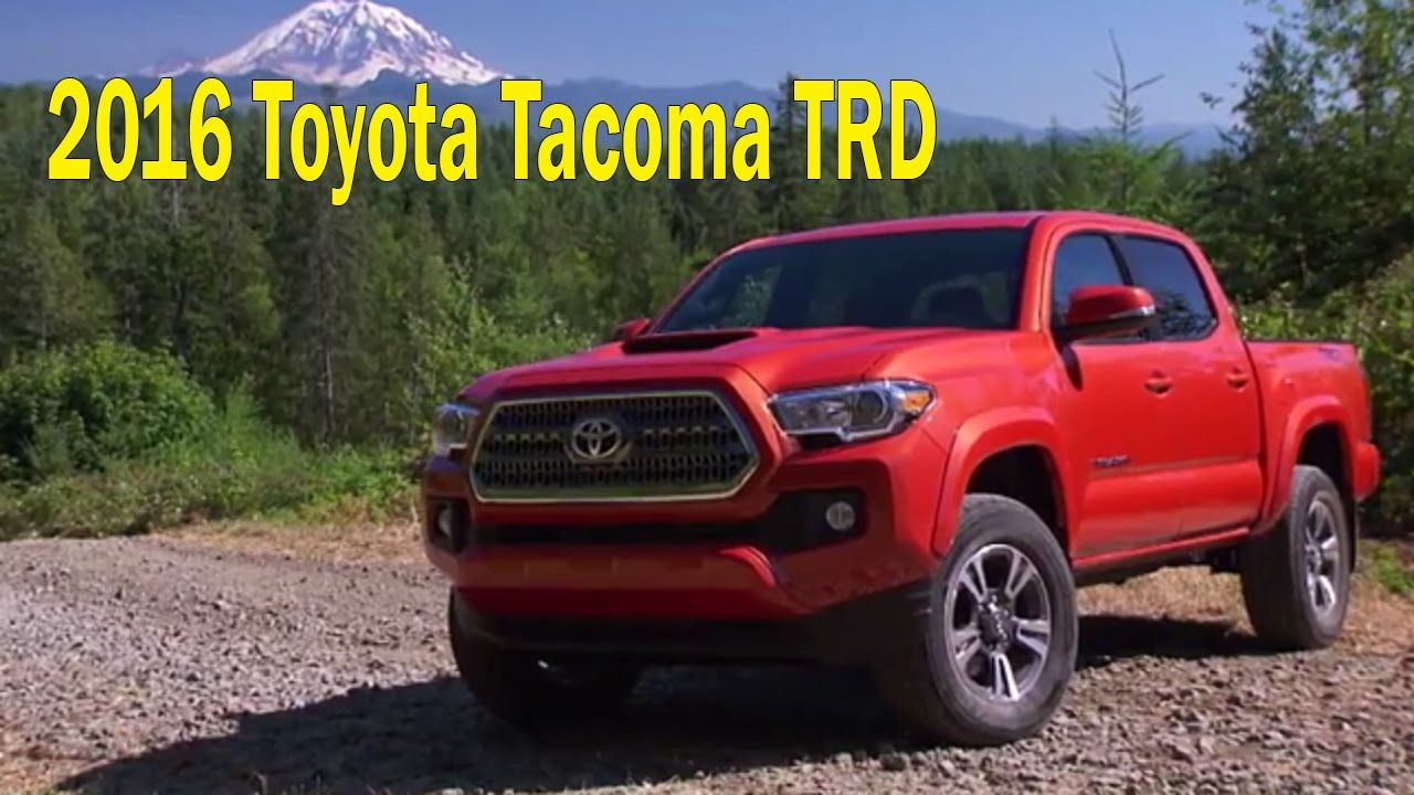 Toyota 2016 4x4 TRD Sport Double Cab Running