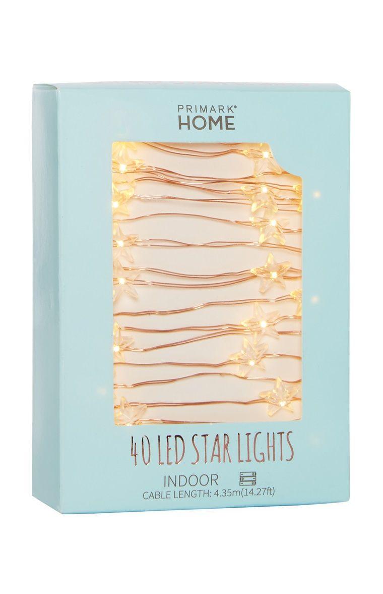Primark 40 Led Copper Star Lights Decoration Lumiere