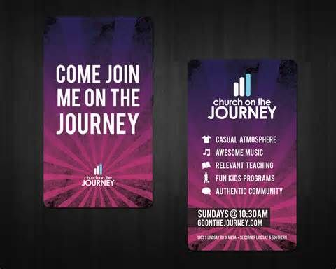 Church invite cards att yahoo image search results church last week i designed two spiffy new invite cards for my church the journey we wanted them business card sized so people could easily keep them in their reheart Images
