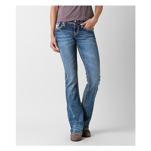 65492d4e5e3 Rock Revival Sapphire Mid-Rise Boot Stretch Jean ( 169) ❤ liked on Polyvore