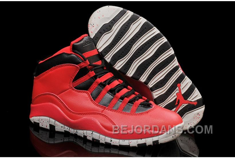Air Jordans 10 Gym Red Gym RedBlackWolf Grey Shoes For Sale Hjfh7