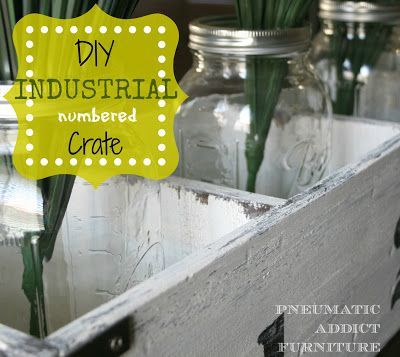 Pneumatic Addict Furniture Industrial Numbered Crate Pneumatic Addict