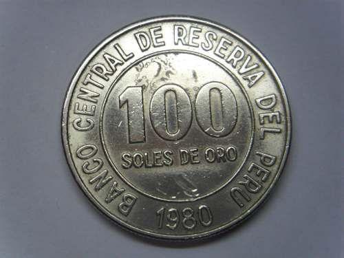 Preciosa Moneda Perú 100 Soles De Oro 1980 Grande 3 Cm Monedas Oro Perú