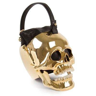 Ines Figaredo Hamlet Gold Skull Purse. Ines Figaredo Hamlet Gold Skull  Purse Luxury Handbag Brands ... 1170dcaac1